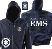 COAST GUARD EMT/PARAMEDIC ZIP/HOODED SWEATSHIRT