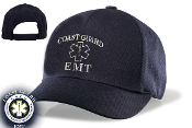 COAST GUARD EMT VELCRO BACK HAT