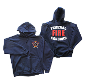 FEDERAL CONCORD FIRE DEPT 9.3 OZ HOODED SWEATSHIRT