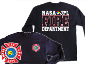 NASA JPL NAVY GILDAN LONG SLEEVE TEE