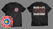 NASA JPL BLACK GILDAN TEE