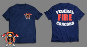 FEDERAL CONCORD FIRE DEPT HANES BEEFY-T SHORT SLEEVE TEE