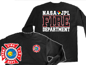NASA JPL BLACK GILDAN LONG SLEEVE TEE