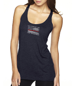 LA CITY RACER BACK FLAG DESIGN TANK TOP