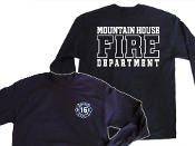 MOUNTAIN HOUSE FIRE DEPT.  LONG SLEEVE HANES BEEFY-T SHIRT