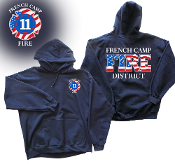 FRENCH CAMP FIRE DISTRICT HOODED SWEATSHIRT