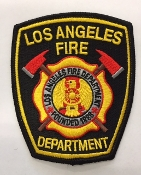 LAFD OFFICIAL PATCH - BLACK