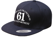 SSFFD STATION 61 WOOL BLEND FLAT BILL SNAP FLEX FIT CAP